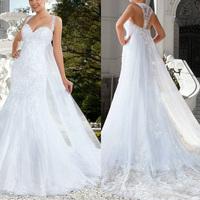 White Lace Sexy Sweetheart Mermaid wedding dresses vestidos de noiva sereia lace 2014 Berta Wedding Dress Court Train Crystal