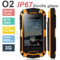 Original phone Tengda O2  Waterproof shockproof phone IP67 MTK6582 Quad Core Android 4.2 1GB RAM 4GB ROM IPS Screen 4000mah
