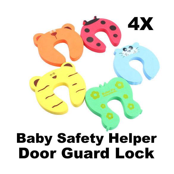 4 шт. детские помощник безопасности стопа двери пальцами щепотку гвардии замок E5M1