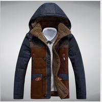 2014 Winter Casual Canada Mens Hooded Collar Down Coat Outwear Man Jacket Ropa Hombre Winter Jacket Men Parka Coats Plus Size