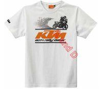Freeshipping! Motorcycle racing KTM off road summer T shirt motorcross motorbike ktm white