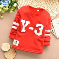 5PC/LOT kids sweater velvet boys t shirt winter sports baby pullover fleece thicken children clothing PANYA DLP32