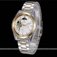 Top Women Men's full steel Watch Hand Wind Watch Wrist Watch Automatic self-wind Mechanical  Business Casual Wristwatch Relogios