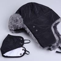 unisex faux fur lining trooper trapper snow ski beanie aviator russian warm winter earflap bomber hats cap free shipping