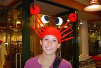 10pcs/lot Unisex Children Adult Halloween party Crab Hat Hallowmas Cap All Saint's Day Role Playing Prop Hc010