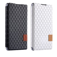 for Baseus Brocade Series Stars Grid Texture Horizontal Flip Leather Mobile Cell Phone Case with Holder for Coolpad 7270