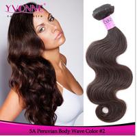 Top Grade 5A Peruvian Hair Body Wave,100% Remy Human Hair Weave,3Pcs/lot Aliexpress Yvonne Hair,Color #2