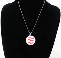2014 new free shipping fashion sport Softball white  Crystal Pendant  Silver Chain Necklace Jewelry Player