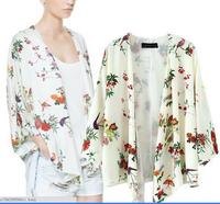 Hot!! New Kimono for Women Batwing Sleeve Floral Kimono Print Kimonos Three Sizes