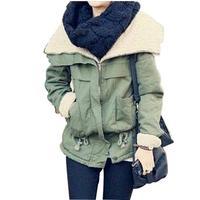 High Quality Casual Wide-waisted Long Sleeve Women's Coats 2014 Fashion Zipper Fly Pockets Warm Winter Coat 778