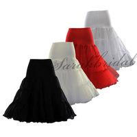 12018 Short Tea Length petticoat dress girls 50s retro vintage swing rockabilly hoop white wedding petticoat crinolines slips