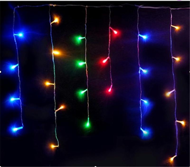 4m 96leds Christmas Icicle LED String Lights with end plug Wedding Garden Decoration AC 220v EU Plug 6pcs/lot Free Shipping(China (Mainland))