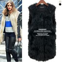 Hot women's  faux fur  sleeveless vest  for women