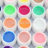 Nail art Mix 36 colors builder uv gel kit color gel glitter gel false full french tips salon set