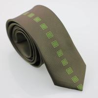 YIBEI Coachella ties Olive Green Neckties Vertical Stripes & Checked Neck Ties Narrow Tie Microfiber Necktie Slim Man Neck Tie