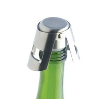 Creative Professional Sparkling Wine Champagne Bottle Plug Seal Spout Stopper Pourer Stainless Steel Sealer Fizz Keeper PV012