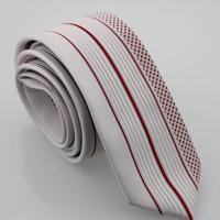 YIBEI Coachella Man ties Silver Neck Ties Burgundy Vertical Stripes & Small Dots Neckties Fashion Ties Skinny Jacquard Neck Tie