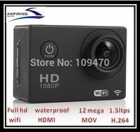 HD 1080P 5.0MP helmet Waterproof Camcorder sj4000 wifi remote