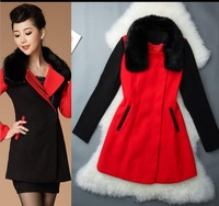 Wholesale & Retail Women's Trench Coat With Good Quality Plus Size 4XL Long/Short Woolen Winter Jackets Free Shipping