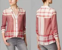 New Woman Shirt Turn Down Collar Camisas Feminina Casual Woman Shirts with Long Sleeve