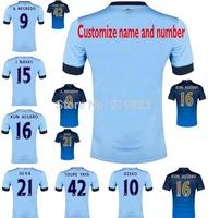 14/15 home blue away Manchester soccer football jersey KUN AGUERO TOURE YAYA best 3A+++ Thailand quality soccer uniforms jerseys