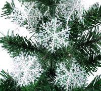 Wholesale 30Pcs/lot 11cm Plastic White Snowflake For Christmas Tree/Window/Showcase Decoration Ornaments Party Gift