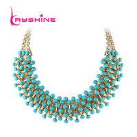 2014 New Fashion Designer Jewelry Statement Necklace Bubble Bib Shorts Women Necklace