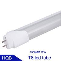 1.5m LED TUBE T8 22W 100pcs SMD2835 85-265V 110V 220V high brightness home classroom house lighting tube lamp 4pcs/lot