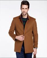 DHL Free Shipping Men's cashmere coat long section Men's casual jacket College Cotton Outdoors warm jacket  Big Size XXXL