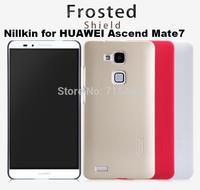Free ship 10pcs Original Nillkin case for HUAWEI Ascend Mate7 super scrub shield with Screen protector +retail box