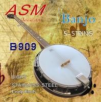 1 set 5 string Banjo string Light Stainless Steel Loop Ends  free shipping
