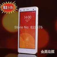 Xiaomi mi4 case,Luxury Ultra-thin Aluminum metal frame+Acrylic back cover For XIAOMI 4 MI4 M4 protective phone cases
