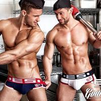 HOT 100% Cotton Popular Brand ES ADDICTED Mens Sexy Underwear Briefs Shorts Fashion Desing Briefs Penis Pouch 2014 New Gay Home