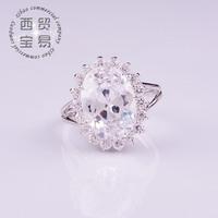 delicate big carat Wedding Rings for Women  Austrian rhinestone  AAA Zircon free shipping JZ001