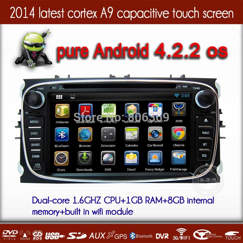 Автомобильный DVD плеер MEKEDE/OEM A9 1,6 Android 4.2 DVD Ford Mondeo S focuS gpS WiFi 3G + canbuS автомобильный dvd плеер zhoon android 4 2 2 dvd gps xtrail nissan x trail