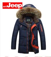 Free  shipping  2014 new men'swinter jacket   men AfsJeep long section thick coat Slim down-jacket