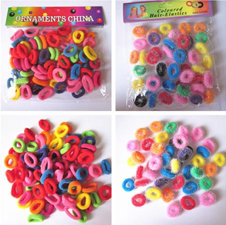 New Colorful Baby Girls' Hair ties Hair Little Small Loops Elastic Hair bands/Ornaments(China (Mainland))