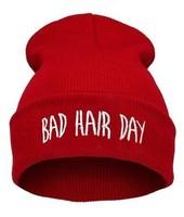 "Bad Hair Day Beanie hat ""hat knitting wool cap"