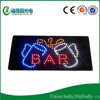 9*19 inch full color LED mini display /LED bar club sign/24*48cm high brightness electronic signboard