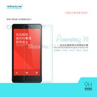 Free shipping 5pcs NILLKIN Amazing H Nanometer Anti-Explosion Glass Screen Protectors for xiaomi Redmi NOTE