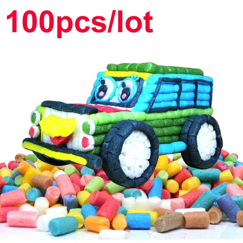 100pcs / lot DIY magic toys Natural corn materials children's educational toys 2014 NEW HOT sale(China (Mainland))