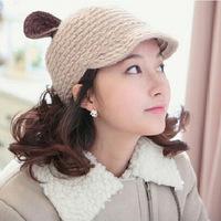 2015 Korean version of the new winter ear hat autumn and winter fashion lady Korean version
