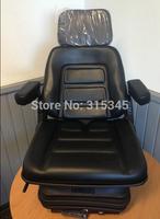 PVC Cover Mini Excavators Seat Forklift seat Backhoe Tractor Driver Seat with Armrest Headrest
