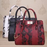 Women Messenger Shoulderbag,Fashion American Style Tote,Brand New Serpent Snake Skin Pattern Designer PU Leather Handbags,SJ099