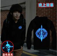 hot anime Fate/Zero night cosplay costume light noctilucence tee hoodie jacket coat sweater