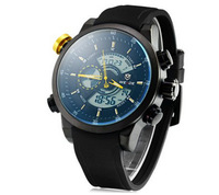 Weide Multi-function Wrist Watch Round Dial 2014 New Arrival Watch Slick Leather Band Watch Date 30 Meters Waterproof Alarm