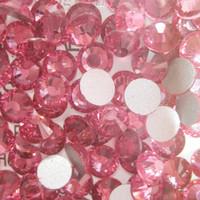 SS8(2.3mm) 1440pcs Glitter Gem 3d Nail Art Rhinestones Decorations Non Hot Fix Flatback Nail Tools DIY Crystal Rose 024