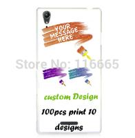 custom design logo printing plastic pc cover hard case for sony t3 Coque Etui Housse free dhl 100pcs mix 10