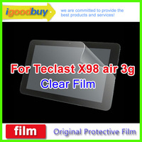 New 2014 3pcs for Teclast X98 air 3g quard Core talk 235*164.5mm clear screen protector 9.7inch protective film for tablets