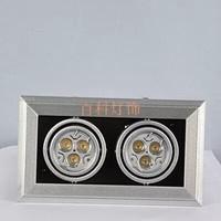 Free shipping Special price aluminum 6-watt power LED Bean pot lamp / Ceiling hole 100MM * 200MM double led Spotlight